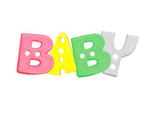 Alphabet baby plastic letters Stock Photo