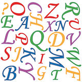 Alphabet background Stock Image