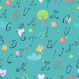 Alphabet background Stock Images