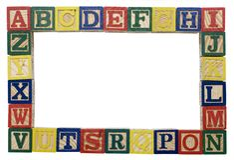 Alphabet background Royalty Free Stock Photography