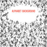 Alphabet Background in black A Royalty Free Stock Photo