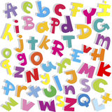 Alphabet background, small and capital letters Stock Photo