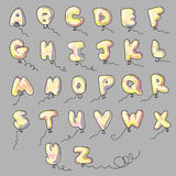 Alphabet ballons cartoon Royalty Free Stock Photos