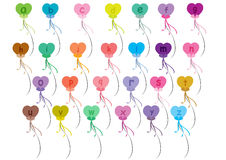 Alphabet balloons set a-z. Colorful alphabet balloons isolated on white background stock illustration