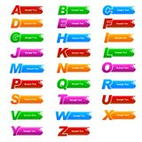Alphabet Banner Royalty Free Stock Photo