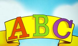 Alphabet banner. An alphabet banner to use in the classroom royalty free stock images