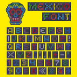 Alphabet Beaded and Skull from Mexico Stock Photography