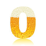 Alphabet beer 0 Stock Photography