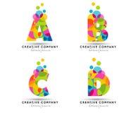 Alphabet beschriftet Logo Stockfotografie