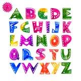 Alphabet bezeichnet Kreidevorstand mit Buchstaben Stockbild