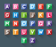 Alphabet bezeichnet Kreidevorstand mit Buchstaben vektor abbildung