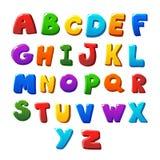 Alphabet bezeichnet Kreidevorstand mit Buchstaben Lizenzfreie Stockfotografie