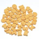 Alphabet biscuit Stock Images