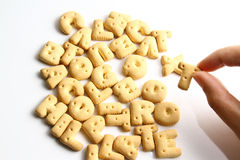 An alphabet biscuits Stock Photography