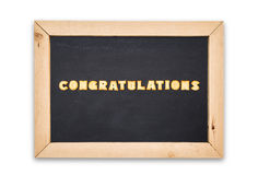 Alphabet Biscuits ,word  congratulations  in chalkboard on white background. Stock Image