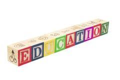 Alphabet-Blöcke - Ausbildung Stockbilder