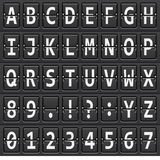 Alphabet of black mechanical panel Stock Images