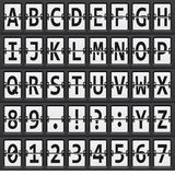 Alphabet of black and  white mechanical panel Royalty Free Stock Images