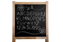 Alphabet On Blackboard Royalty Free Stock Photos