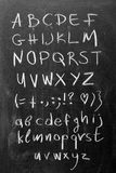 Alphabet on blackboard Royalty Free Stock Images