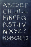 Alphabet on blackboard Royalty Free Stock Photography