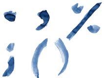 Alphabet bleu Photographie stock