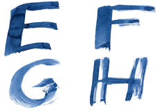 Alphabet bleu Images libres de droits