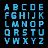 Alphabet bleu de papier de couleur Photo stock