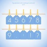Alphabet bleu vol.4 réglé Photo libre de droits