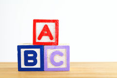 Alphabet block with ABC Royalty Free Stock Photography