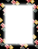 Alphabet Block Frame on White Royalty Free Stock Photography