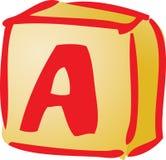 Alphabet block illustration Royalty Free Stock Photography