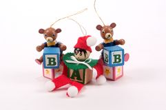 Alphabet Block Tree Ornaments Royalty Free Stock Photo