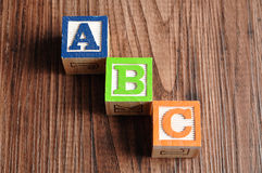 Alphabet blockiert ABC Lizenzfreie Stockfotos