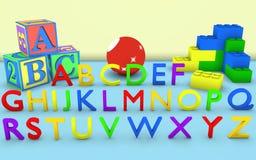 Alphabet and Blocks Royalty Free Stock Photos