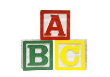 Alphabet Blocks Royalty Free Stock Photography