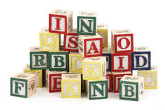 Alphabet blocks Royalty Free Stock Images