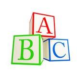 Alphabet blocks. Stock Photos