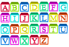 Alphabet blocks. For child stack and build your words vector illustration