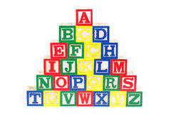 Alphabet Blocks Royalty Free Stock Photos