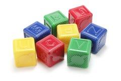 Alphabet Blocks. On White Background Royalty Free Stock Image