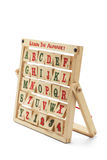 Alphabet Blocks. With Wooden Rack on White Background royalty free stock photos