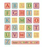 Alphabet Blocks. Image of alphabet blocks isolated on a white background Stock Photos
