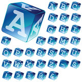 Alphabet blocks Royalty Free Stock Photos