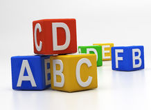 Alphabet blocks Stock Photo
