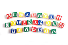 Alphabet Blocks royalty free stock images