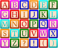 Alphabet Blocks. Isolated on white background. Eps file available stock illustration