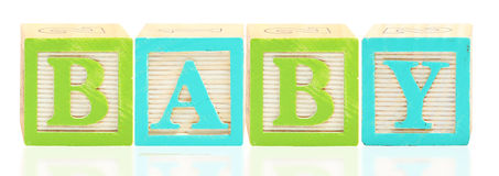 Alphabet Blocks BABY Stock Photo