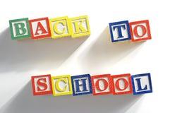 Alphabet Blocks Back To School Royalty Free Stock Images