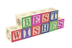 Alphabet Blocks - Best Wishes Royalty Free Stock Photography